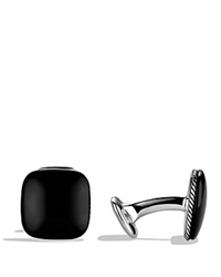 David Yurman Streamline Cufflinks With Black Onyx Silver