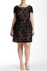 Single Dress Cap Sleeve Lace Dress Plus Size Black