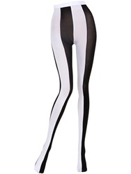 Emilio Cavallini Two Tone Striped Microfiber Tights