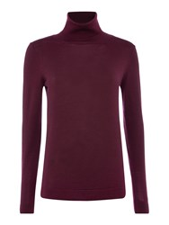 Gant Fine Merino Wool Turtle Neck Jumper Purple