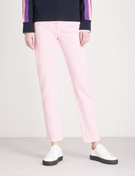 Sandro Straight Cropped High Rise Jeans Rose