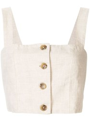 Venroy Buttoned Bodice Brown