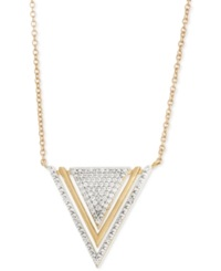 Wrapped Diamond Triangle Pendant Necklace 1 5 Ct. T.W. In 10K Gold