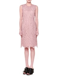 Emilio Pucci Sleeveless Feather Macrame Dress Dusty Pink Women's
