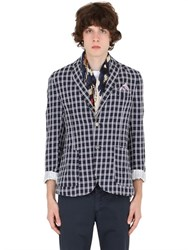 Bob Strollers Bob Plaid Brushed Linen And Cotton Blazer