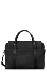 Shinola Nubuck Sport Briefcase Black