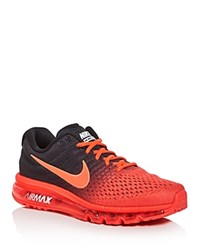 Nike Men's Air Max 2017 Lace Up Sneakers Bright Crimson