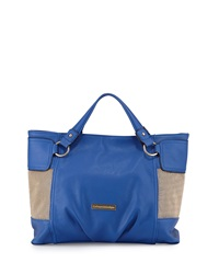 Catherine Catherine Malandrino Victoria Medium Faux Leather Tote Royal Blue