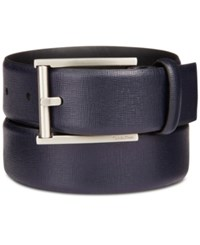 Calvin Klein Men's Leather Feather Edge Belt Ink