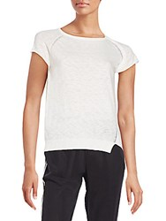 Zadig And Voltaire Cotton Raglan Short Sleeves Tee White