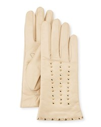 Portolano Studded Leather Gloves Parchment