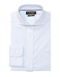 Lauren Ralph Lauren Slim Fit Striped Dress Shirt Blue