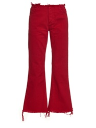 Marques Almeida Capri Frayed Edge Flared Jeans
