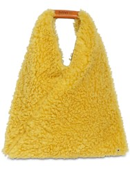 Maison Martin Margiela Japanese Medium Faux Fur Bag Yellow