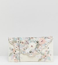 Accessorize Florence Lace Embellished Envelope Clutch Multi
