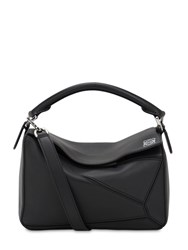 Loewe Small Puzzle Leather Top Handle Bag Black