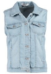 Only Waistcoat Light Blue Denim
