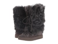 Frye Gail Shearling Tall Smoke Waterproof Oiled Suede Shearling Women's Pull On Boots Gray