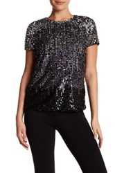 French Connection Sunbeam Sequin Tee Black
