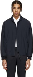 Christophe Lemaire Navy Zip Up Jacket