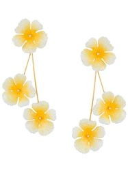 Jennifer Behr Flower Earrings Yellow
