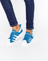 Adidas Superstar 80S Trainers Blue White