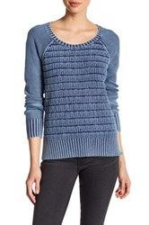 Three Dots Lindsey Long Sleeve Sweater Blue
