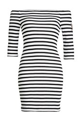 Zoe Karssen Striped Dress With Bardot Neckline