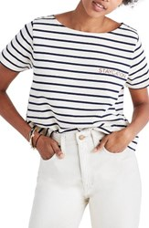 Madewell Women's Embroidered Setlist Staycation Boxy Tee