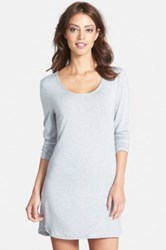 Splendid Long Sleeve Night Shirt Gray
