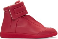 Maison Martin Margiela Red Future High Top Sneakers