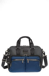 Tumi Alpha Bravo Albany Slim Commuter Briefcase Blue Navy Anthracite