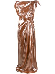 Roland Mouret Silva Bella Gown Brown