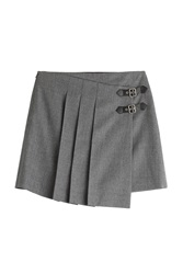 Marc By Marc Jacobs Pleated Wool Mini Skirt Grey