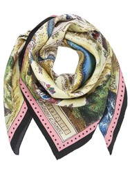 Gucci Map Printed Silk Twill Scarf