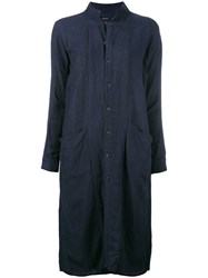 Klasica Pocket Detail Shirt Dress Women Linen Flax Viscose 2 Blue