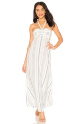 1.State Cinched Bodice Maxi Dress White