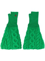Undercover Cable Knit Gloves Green