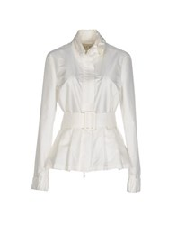 Armani Jeans Coats And Jackets Jackets Women White