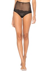 Only Hearts Club Whisper Sweet Nothings Hi Waist Brief Black