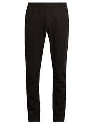 Sunspel Elasticated Waist Slim Fit Trousers Black