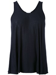 Forte Forte Draped Tank Top Women Linen Flax I Blue