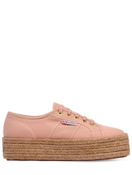 Superga 40Mm Canvas Platform Sneakers Pink