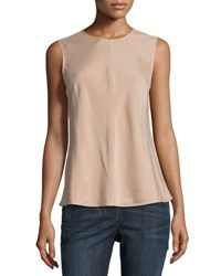 Brunello Cucinelli Sleeveless Silk Blend Top Rose