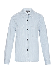 A.P.C. Surchemise Nancy Striped Cotton Shirt