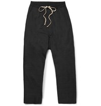 Rick Owens Drop Crotch Tech Canvas Trousers Black