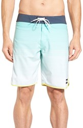 Billabong Men's 'Tribong X Scallop' Board Shorts Blue Mint