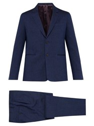 Paul Smith Soho Tailored Fit Wool And Linen Blend Suit Navy