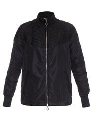 Moncler Karine Lace Panel Lightweight Coat Black