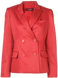 Sies Marjan Double Breasted Blazer Red